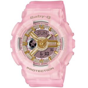 Casio Baby-G Sea Glass Quartz Pink Dial Pink Resin Strap Ladies' Watch BA-110SC-4AER