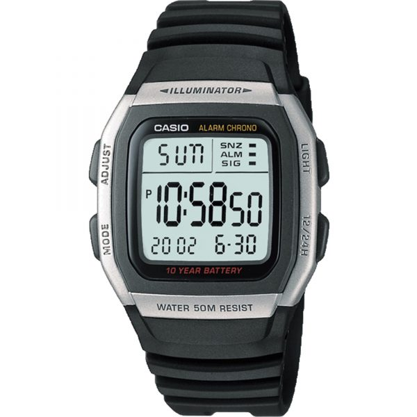 Casio Collection Quartz Digital Dial Black Resin Strap Ladies' Watch W-96H-1AVES