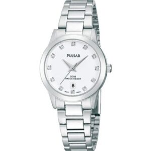 Pulsar White Dial Crystal Index Ladies' Watch PH7275X1