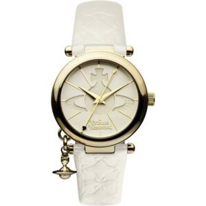 Vivienne Westwood Orb Quartz Cream Dial Leather Strap Ladies Watch VV006WHWH