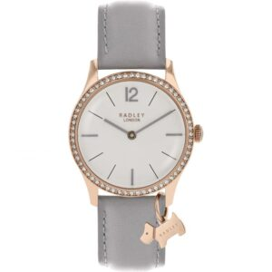 Radley Millbank Quartz White Dial Grey Leather Strap Ladies Watch RY2518