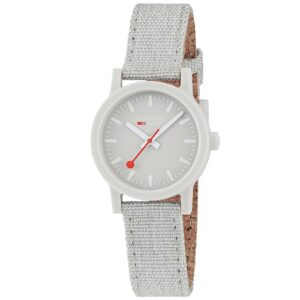 Mondaine Essence Quartz Grey Dial Textile Strap Ladies Watch MS1.32170.LK