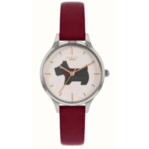 Radley Meridan Place Quartz White Dial Red Leather Strap Ladies Watch RY2973
