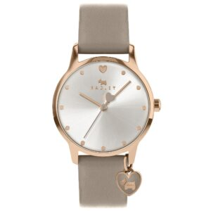 Radley Quartz Silver Dial Grey Leather Strap Ladies Watch RY2914A