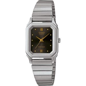 Casio Collection Classic Quartz Brown Dial Silver Stainless Steel Bracelet Ladies' Watch LQ-400D-1AEF