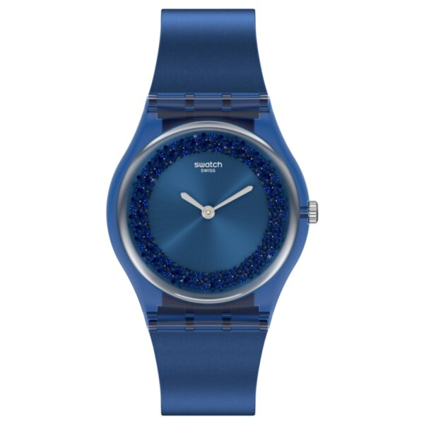 Swatch Sideral Blue Quartz Silicone Strap Ladies Watch GN269